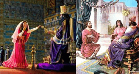 Queen Esther and Nehemiah before Kings
