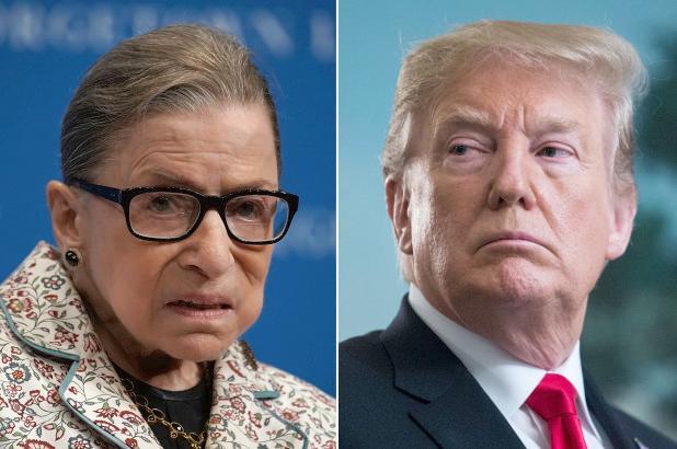 Ruth Bader Ginsberg - Donald Trump (Getty)