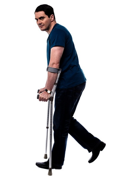 man with-crutches