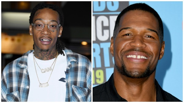 Wiz Khalifa and Michael Strahan