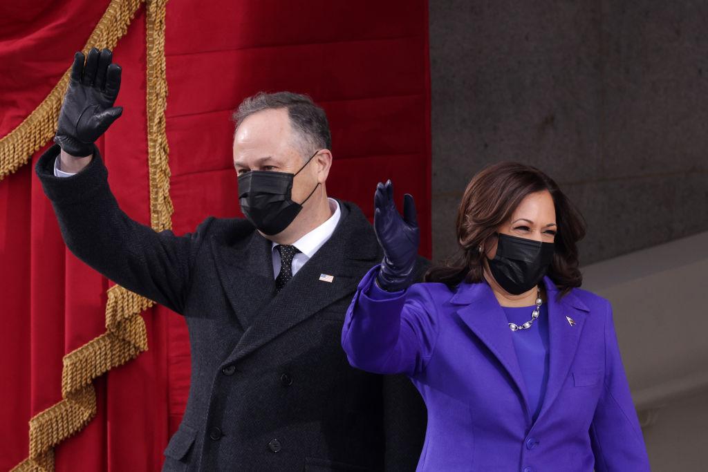 The new Second Gentleman Douglas Imhoff and Vice President Kamala Harris