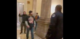 Black Capitol cop & MAGA-ite1a (Twitter screenshot)