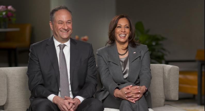 Doug Imhoff & Kamala Harris (Photo: CBS News)