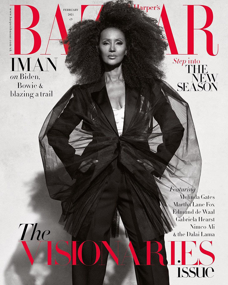 Iman for Harper's Bazaar UK