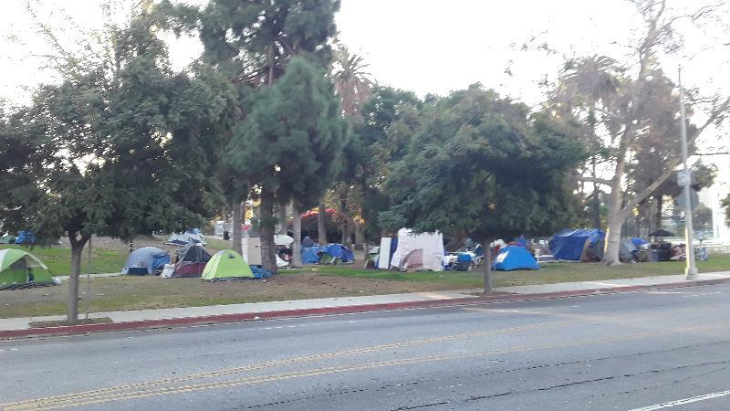 Homelessness - Echo Park Across from Opulence