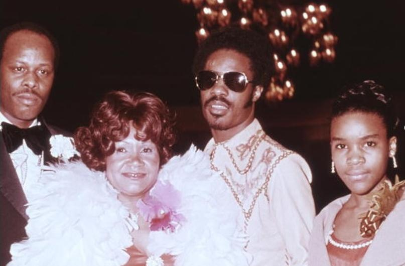 Stevie Wonder with Father Mother and Sister Renee Lynda Hardaway