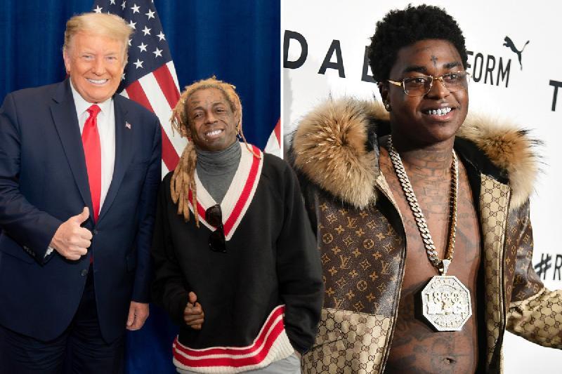Trump Lil Wayne Kodak Black