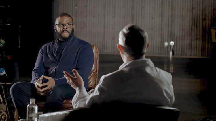 Tyler Perry and doctor for BET-Covid special