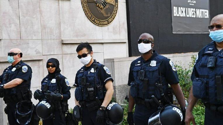 US Capitol Police (including Black officers - Getty)