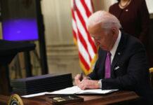 President Biden signing executive orders