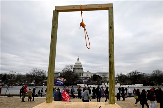 noose at us capitol on day of insurrection (getty