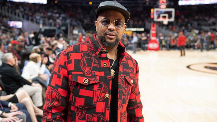 Celebrities Attend New Jersey Nets vs Atlanta Hawks