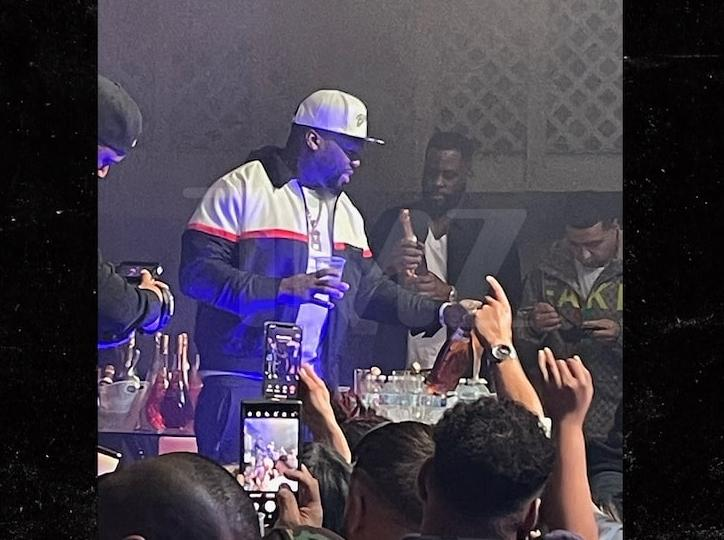 50 Cent - Super Bowl party (TMZ)
