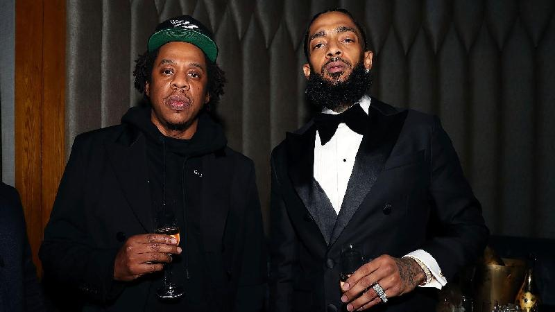 Jay Z & Nipsey Hussle - GettyImages-1096287642