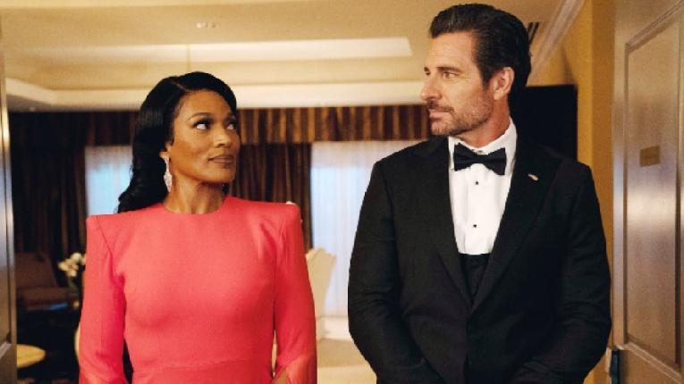 Kron Moore and Ed Quinn star in The Oval'