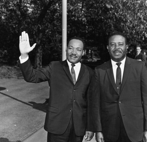 MLK Jr and Ralph D Abernathy (Getty)