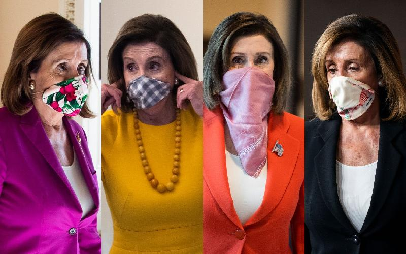 Nancy Pelosi masks - Getty)