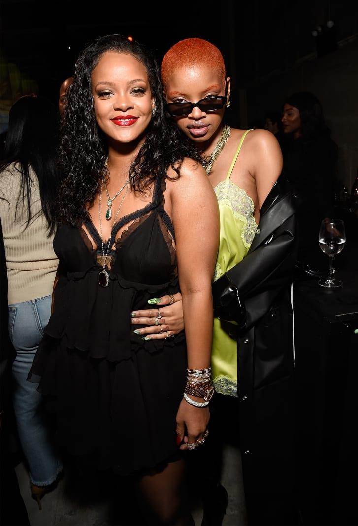 Rihanna & Slick Woods (Getty)