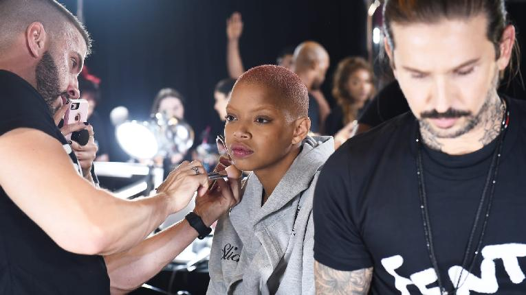 Slick Woods getting made up - Getty