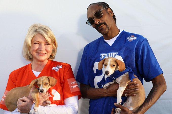 Snoop Dogg and Martha Stewart puppu bowl
