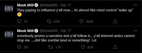 meek mill tweet