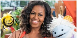 michelle obama, puppets