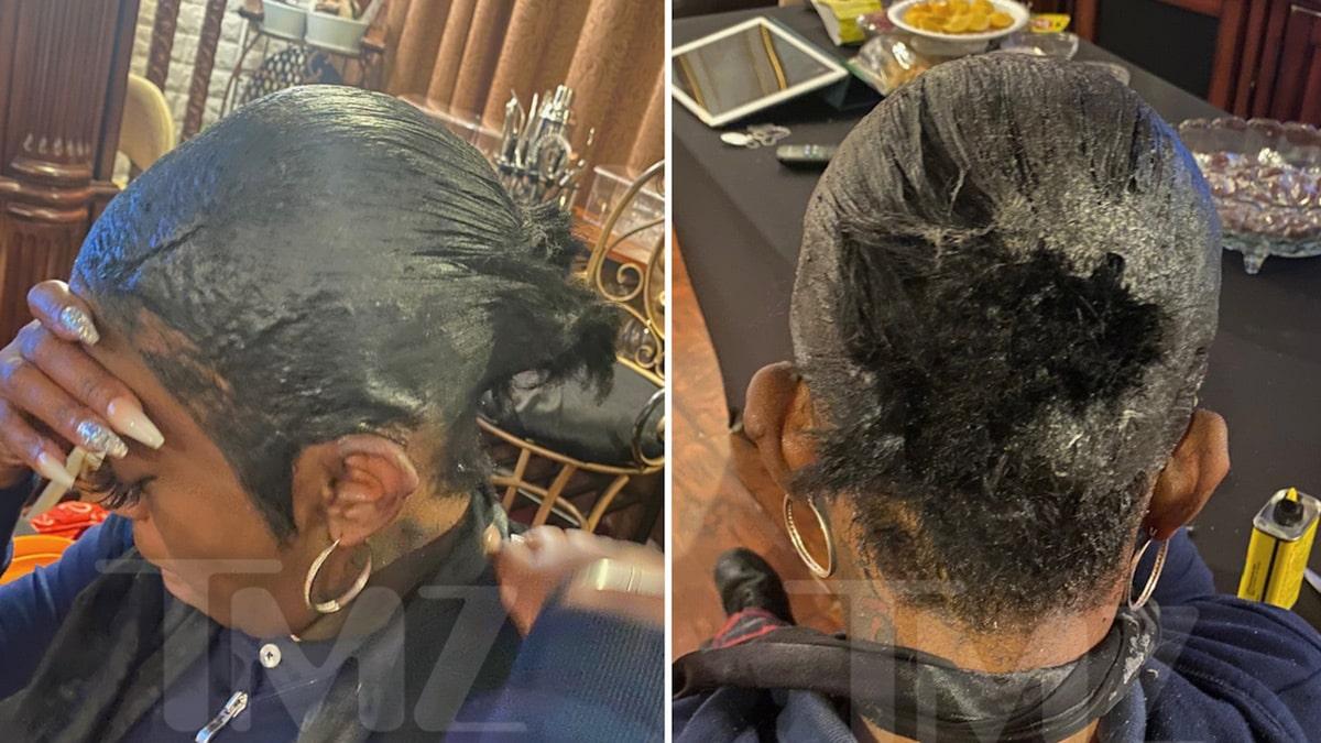 tessica brown's ponytail