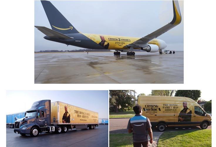 Coming 2 America Reimagined as Amazon Transportstion Fleet