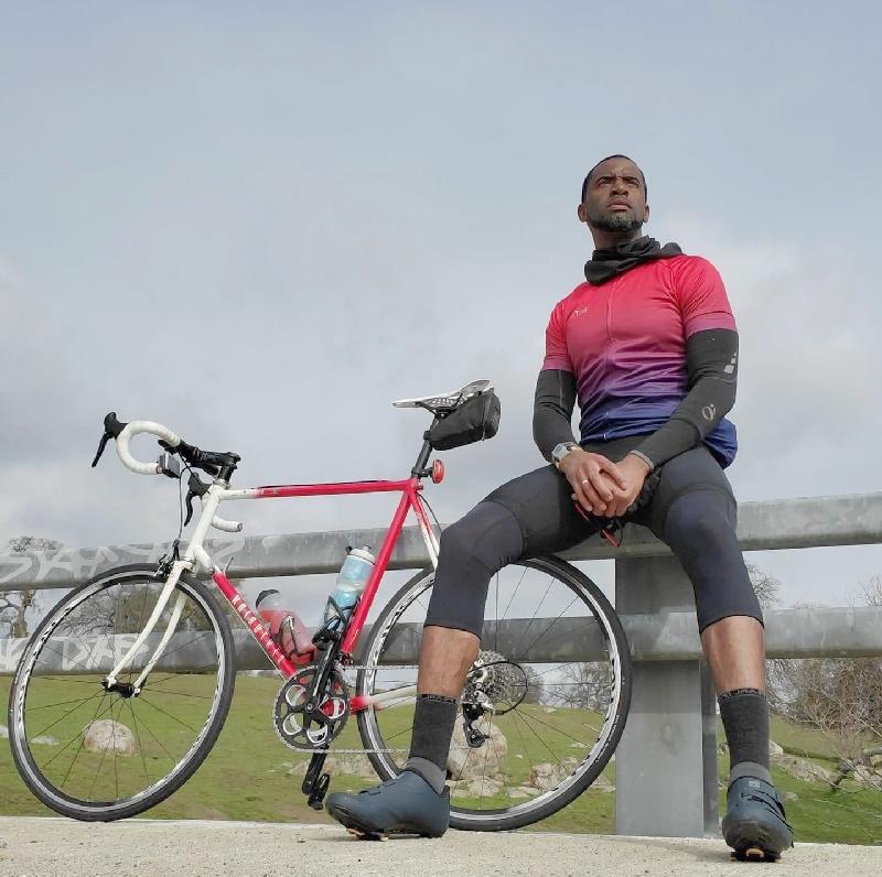 David Huff & bike