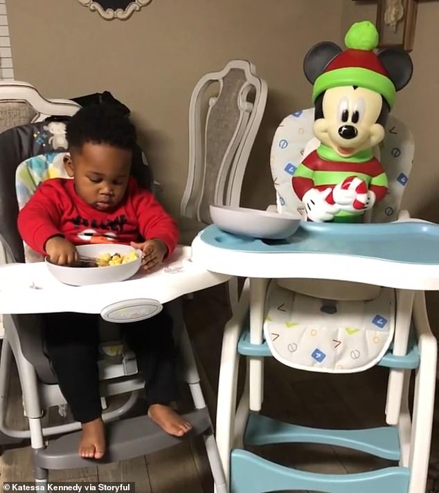 toddler and mickey