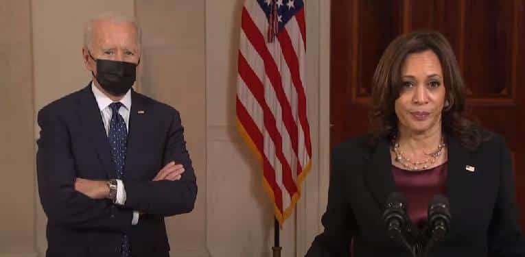 Biden and Harris speak after Chauvin verdict - screenshot
