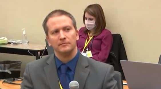 Derek Chauvin (with mic) in court1