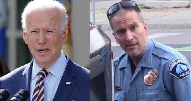 Joe Biden - Derek Chauvin (as cop)