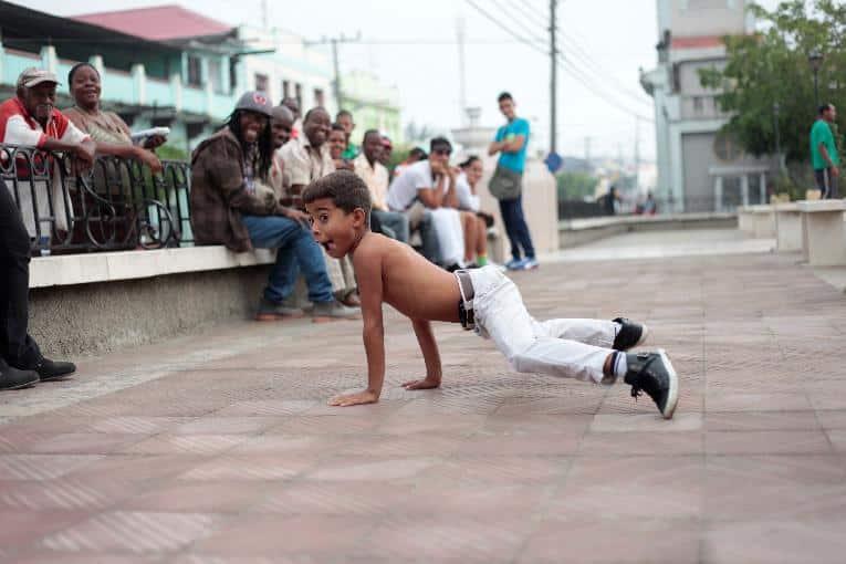 Little Cuban Boy Dancing