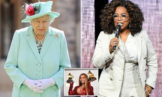 Queen Elizabeth - Oprash Beyonce (inset)