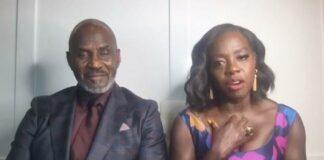 Viola Davis and husband (Julius Tennon) - backstage at 52nd Image Awards