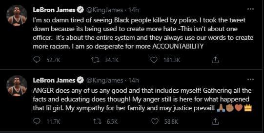 lebon james tweets