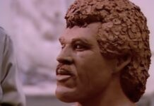 "Lionel Richie sculpture from ""Hello"" music video"