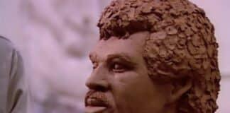 "Lionel Richie sculpture from ""Hello"" music video"