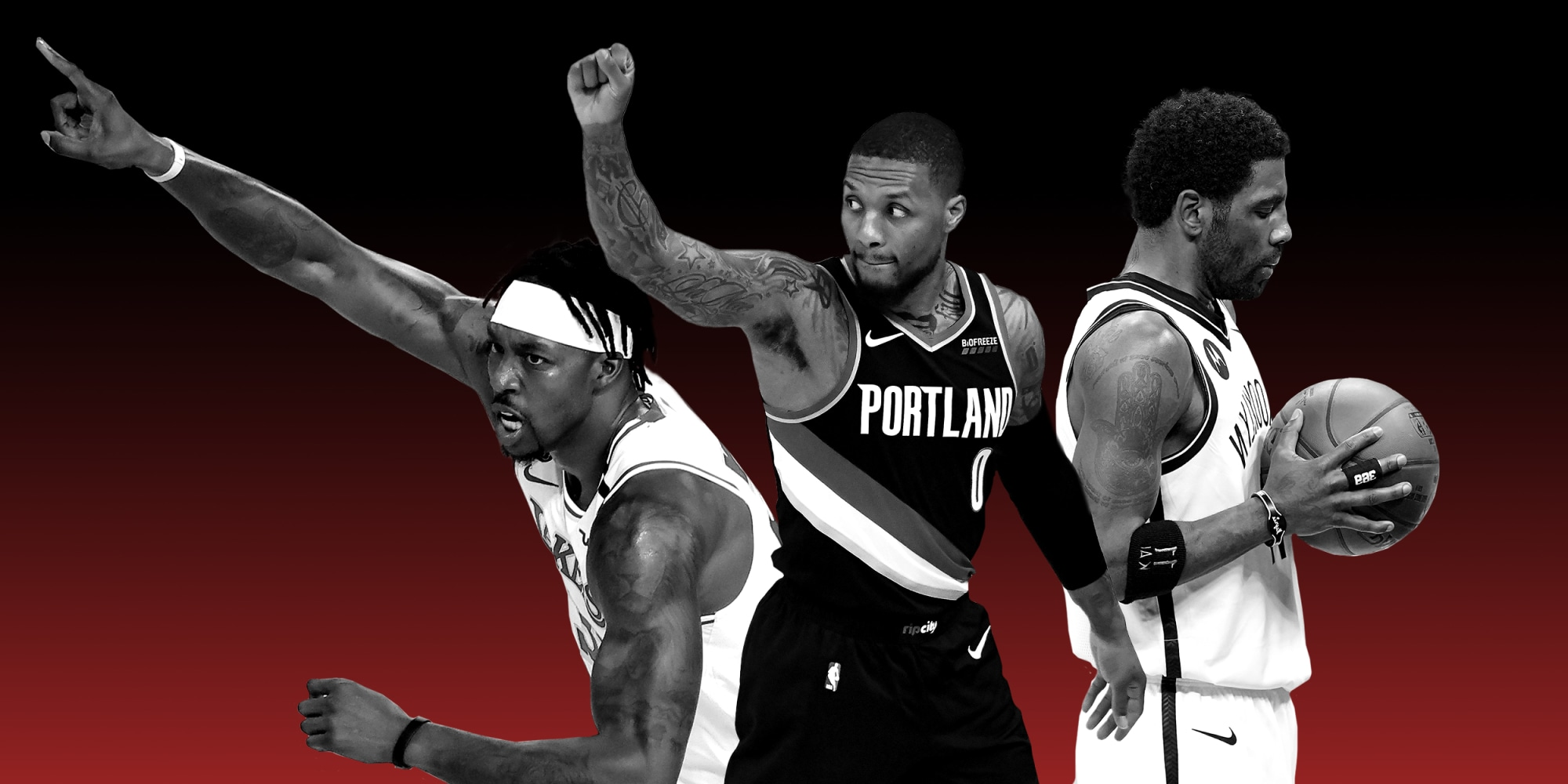 Dwight Howard - Damian Lillard - Kyrie Irving -athletes-for-palestine-main-2x1-an (Getty)