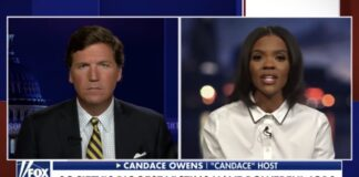 Candace Owens and Tucker Carlson