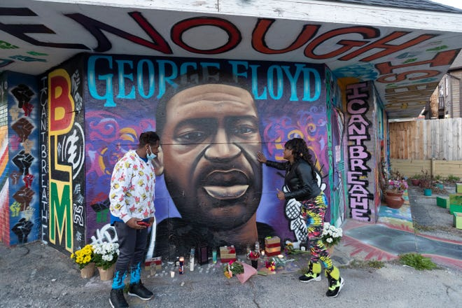 George Floyd - BLM mural - Milwaukee