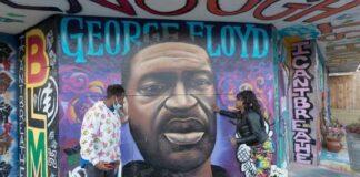 George Floyd - BLM mural - Milwaukee1 (Milwaukee Journal Sentinel)