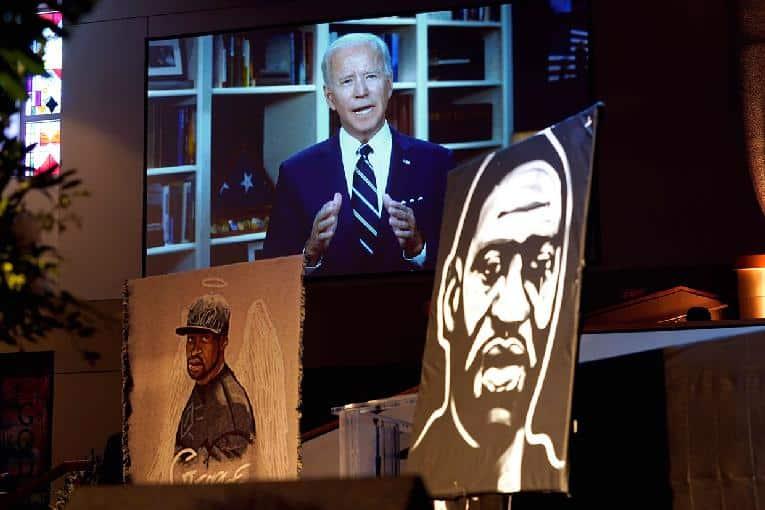 Joe Biden - Geo Floyd funeral