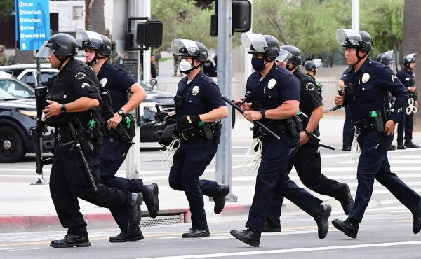LAPD - show of force
