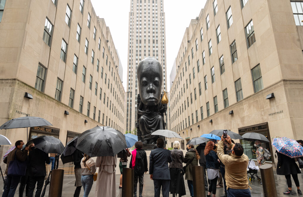 Sanford Biggers Transforms Rockefeller Center with New Campus-wide Public Art Exhibition