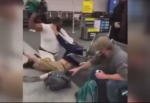 Spirit Airline Terminal Brawl - Detroit