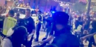 Detroit police break up brawl in Greektown