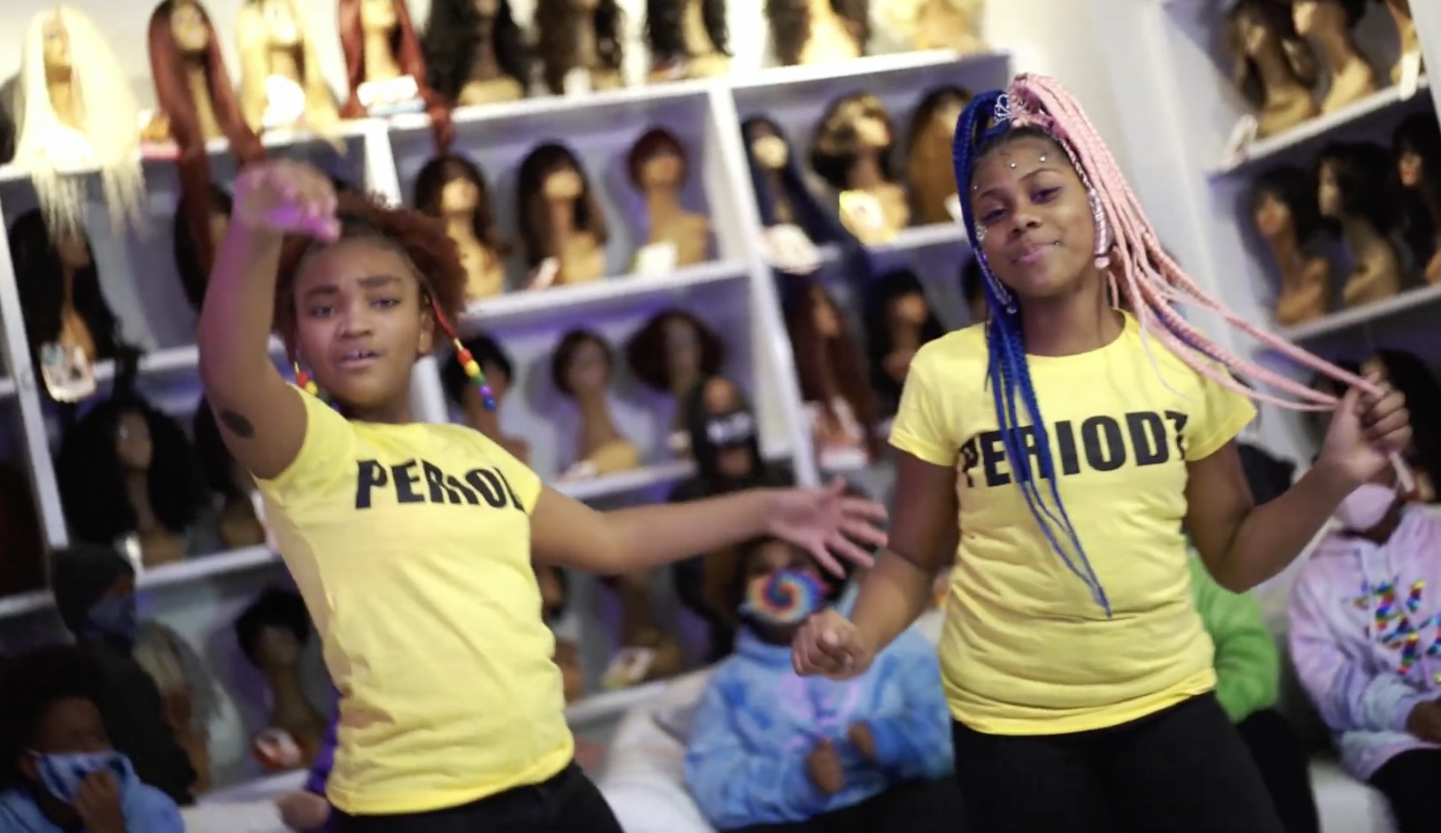 D'Angelia McMillan, 12, and Renee Robinson, 10, are members of The Real Young Prodigys