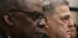 Defense Secretary Lloyd Austin, left, and Chairman of the Joint Chiefs of Staff Gen. Mark Milley